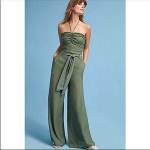 Anthropologie olive green wide leg pants
